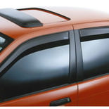 Wind deflector orange car