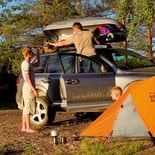 Roof box camping