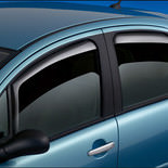 Wind deflector turquoise car