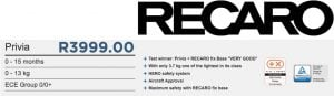 Recaro Brand Deals and Facts