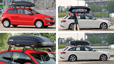 Various angles of roof box