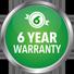 6 year warranty